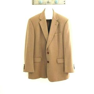 Brooks Brothers 44R Tan 100% Camel Hair Sportcoat
